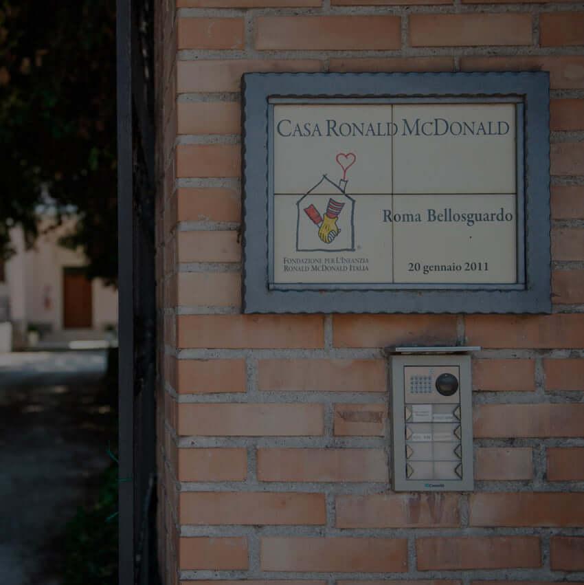 Casa ronald Mc Donald's Roma BelloSguardo