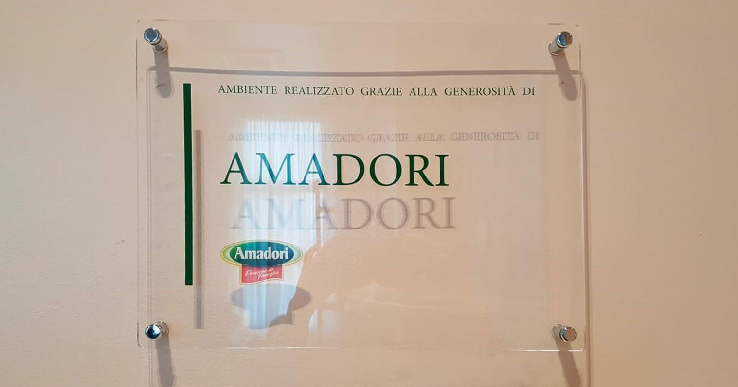 Targa presso la Ronald McDonald Family Room di Milano