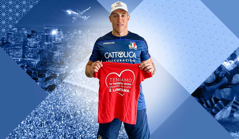 Con Sergio Parisse e la Nazionale Italiana di Rugby la solidarietà scende in campo