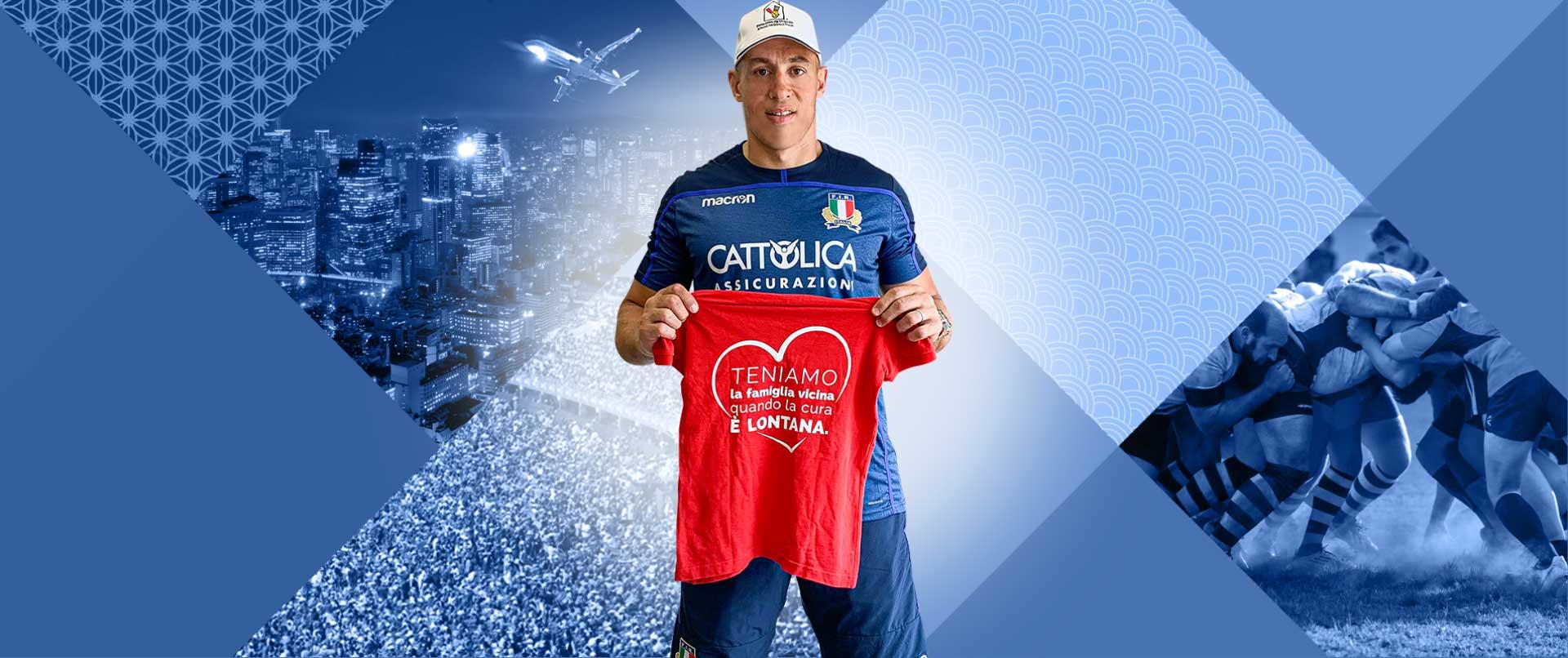 Sostenendo Fondazione Ronald puoi vincere un viaggio ai Mondiali di Rugby insieme al capitano Sergio Parisse e agli Azzurri.
